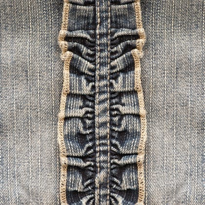 CASUAL blue jeans pleated